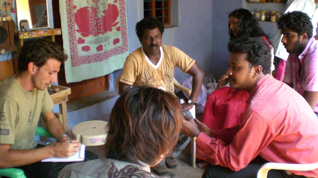 Projects Abroad volunteers learn medical skills during a workshop in India.